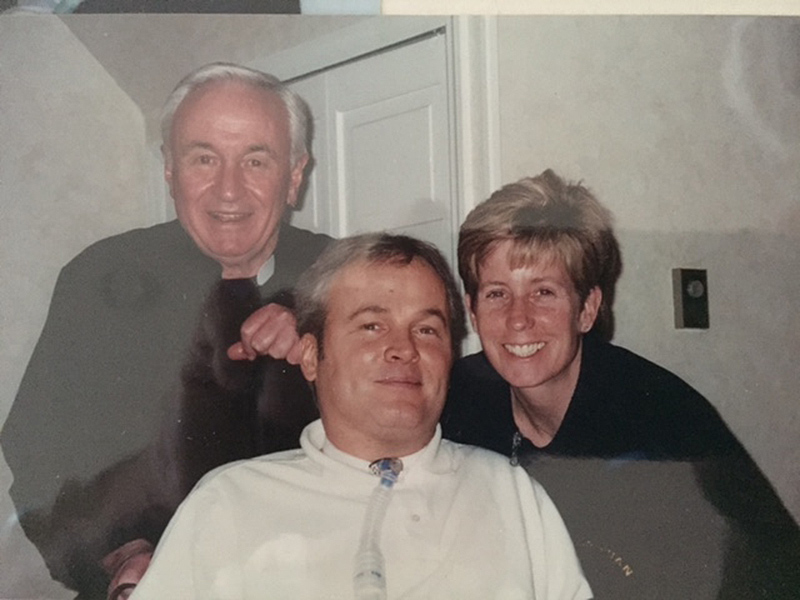 Father Mychal Judge and Steven McDonald and his wife Patti Ann COURTESY TIM RYAN